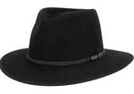 The Traveller Hat - Black by Akubra