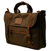 The Kakadu Briefcase - Carry All Bag - Ghost Gum Brown