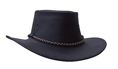 The Black Echuca Oilskin Hat