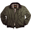 Loden Green Double Bay Bomber Jacket