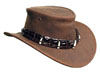The Brown Dundee Croc Hat