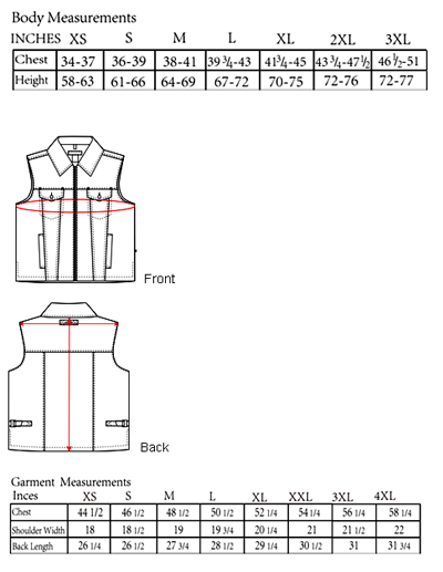 The Concealed Carry Delta Vest Sizing